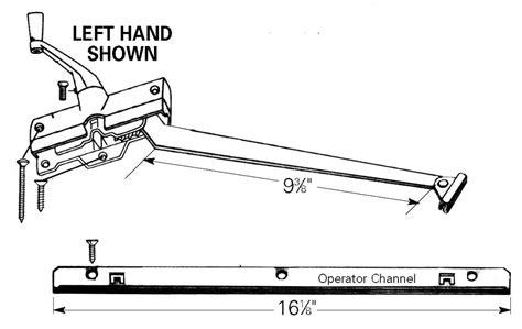 andersen perma shield casement operator parts truth window hardware