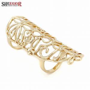 vintage hollow flower long joint ring new band two stage With long wedding rings