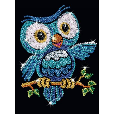 Sequin Art Junior Ozzy Owl