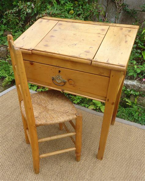 petit bureau ancien original et authentique petit bureau de pente ancien en