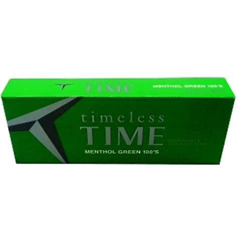 Time Menthol Green 100 Box  Budget Brands Cigarettes