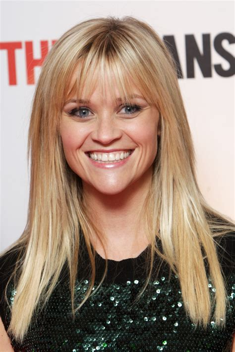 reese witherspoons long straight haircut  bangs