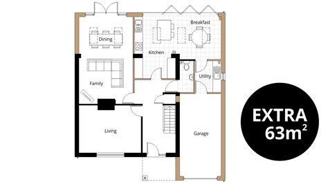 Garage Extension Plans - kitchen extension ben williams home design and