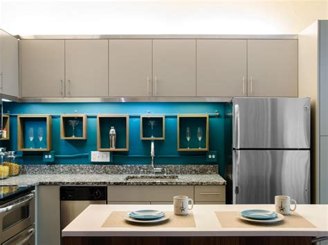 turquoise and orange area eat in kitchen photos hgtv