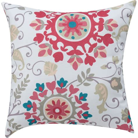 Throw Pillows For Walmart by Mainstays Medallion Print Coral Decorative Decorative
