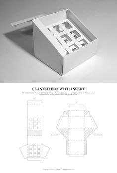 Slanted Box with Ins | Graphic Design | Packaging dielines