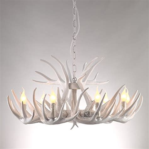 white antler chandelier diningroom droplight ceiling