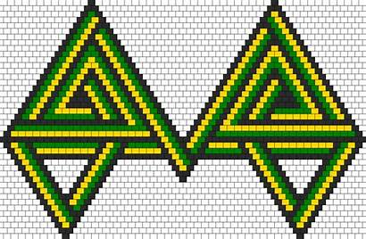 Patterns Bead Kandi Simple Celtic Knot Peyote