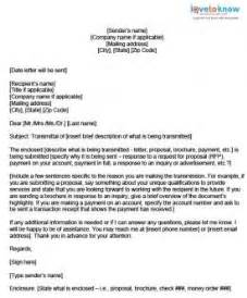 transmittal letter example