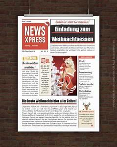 Zeitung Selbst Gestalten : drucke selbst vorlage lustige einladung weihnachtsfeier ~ Fotosdekora.club Haus und Dekorationen
