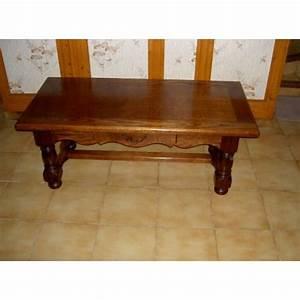 Table Chene Massif : table basse bois chene massif achat et vente ~ Melissatoandfro.com Idées de Décoration