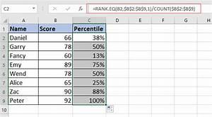 Pagerank Berechnen : wie berechne ich das rang perzentil einer liste in excel ~ Themetempest.com Abrechnung