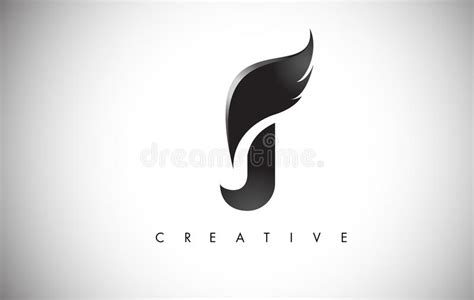 J Letter Wings Logo Design With Black Bird Fly Wing Icon