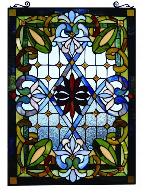 tiffany stained glass l tiffany style stained glass window panel colorful