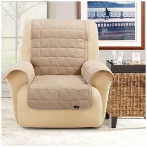 sure fit 174 waterproof quilted suede wing chair recliner