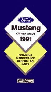 1991 Ford Mustang Owners Manual User Guide Reference