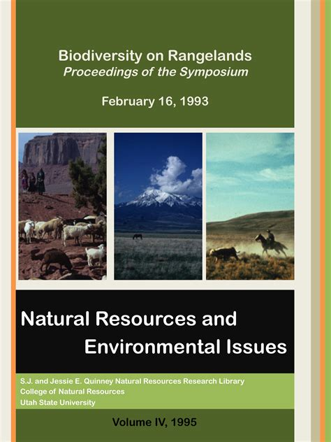 natural resources  environmental issues vol  iss