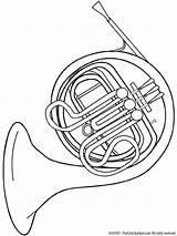 Coloring Horn French Instruments Musical Tuba Instrument Kleurplaten Printable Drawing Colouring Muziekinstrumenten Zo Kleurplaat Bugel Sheets Audio Stories Omalovánky Orchestra sketch template