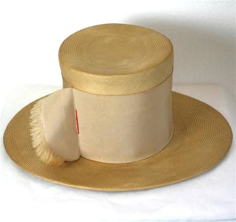 top hat table l charming straw quot top quot hat at 1stdibs