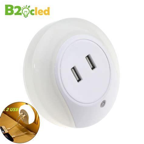 usb light bulb socket led night light sensor 2 usb charging socket led 110v 220v