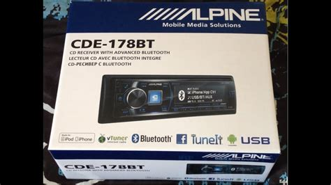 alpine cde 178bt unboxing of alpine cde 178bt