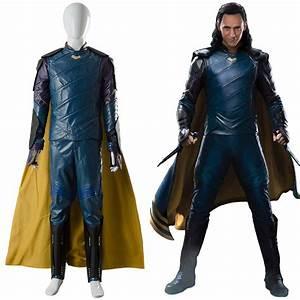 Loki Thor 3 Ragnarok Outfit Sakaar Suit Blue Ver. Cosplay ...