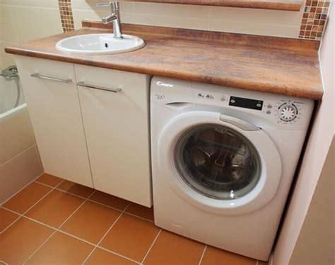 vasque sur machine a laver plus simple et plus pratique le lave linge sous le meuble de salle de bains atlantic bain