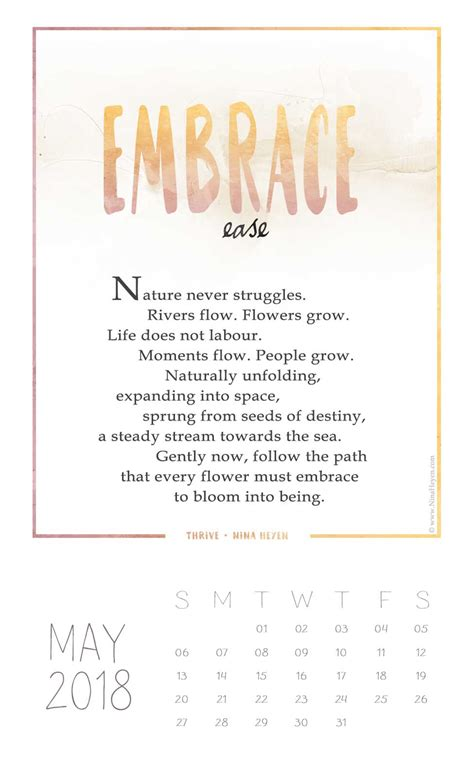 embrace ease  poem   thrive collection nina