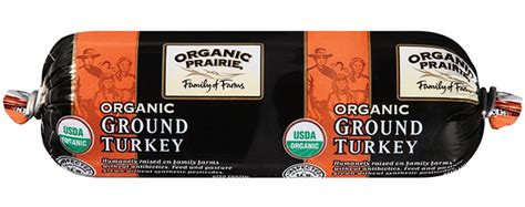 The truth is, our organic ground turkey 93% lean is from turkeys that are humanely raised in a free range environment with organic vegetarian feed, no antibiotics ever, and no added hormones. Organic Ground Turkey by Organic Prairie