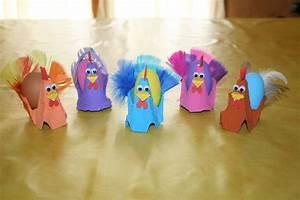 Poule Pour Paques : poules de paques fabriqu es avec des bo tes oeufs les ~ Zukunftsfamilie.com Idées de Décoration