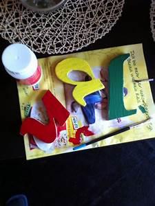 Buchstaben Für Kinderzimmertür : buchstaben f r kinderzimmert r gebastelt pinterest basteln buchstaben und kinder zimmer ~ Orissabook.com Haus und Dekorationen