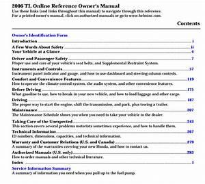 2006 Acura Tl Owner U0026 39 S Manual