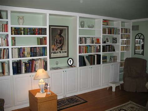 premade built in cabinets get built in bookcases inexpensively by using pre made