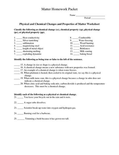 images  physical properties  matter worksheet