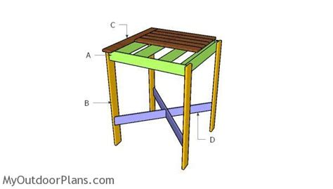 bistro table plans myoutdoorplans  woodworking