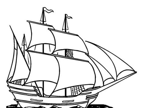 Outline Of Boat To Colour by Sailing Boat Coloring Pages Coloringstar