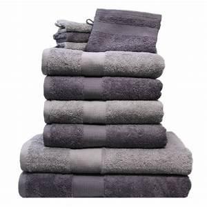 Handtücher Set Grau : 10 tlg handtuch set 4 handt cher 2 duscht cher 4 waschhandschuhe grau hellgrau ebay ~ Indierocktalk.com Haus und Dekorationen
