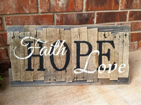 Faith Hope and Love Pallet Sign