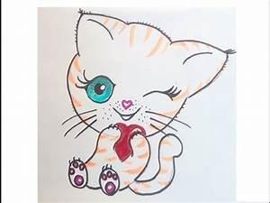 Bilder Zeichnen Für Anfänger : eine niedliche katze malen zeichnen lernen f r anf nger und kinder kawaii bilder tutorial ~ Frokenaadalensverden.com Haus und Dekorationen