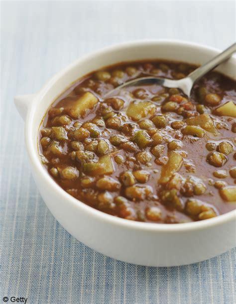 lentilles cuisine soupe de lentilles à la coriandre et au citron pour 4