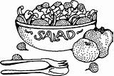 Clipart Salad Chicken Cliparts Clip Library sketch template