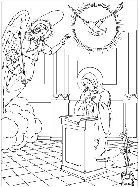 mysteries  rosary coloring pages coloring pages
