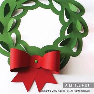 Paper craft Christmas wreath cutout