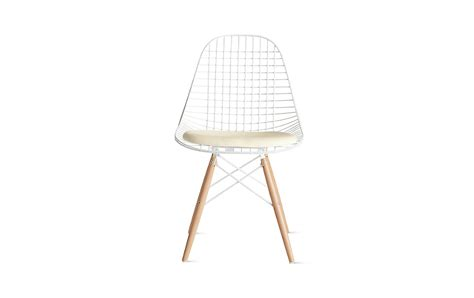 eames 174 dowel leg wire chair with seat pad dkw 5 design