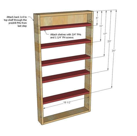 Wooden Spice Rack For Pantry Door by White Build A Door Spice Rack Free And Easy Diy