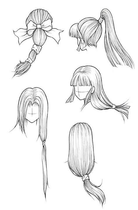 easy hairstyle drawings drawing hairstyles easy lesson
