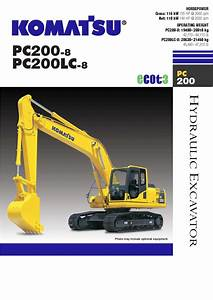 Komatsu Catalogue   Specification Sheets Hydraulic Excavator Pc200-8  Pc200lc-8