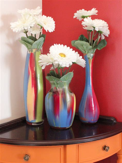 glass painting flower vase easy painted glass vases how to nest for less