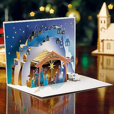 buy nativity pop up cards from museum selection pop up