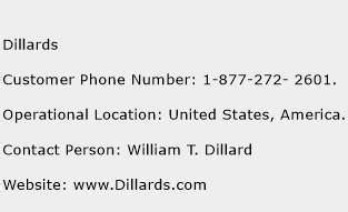 dillards customer service phone number toll free